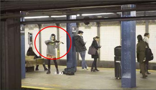 紐約「地鐵玉人」演奏…