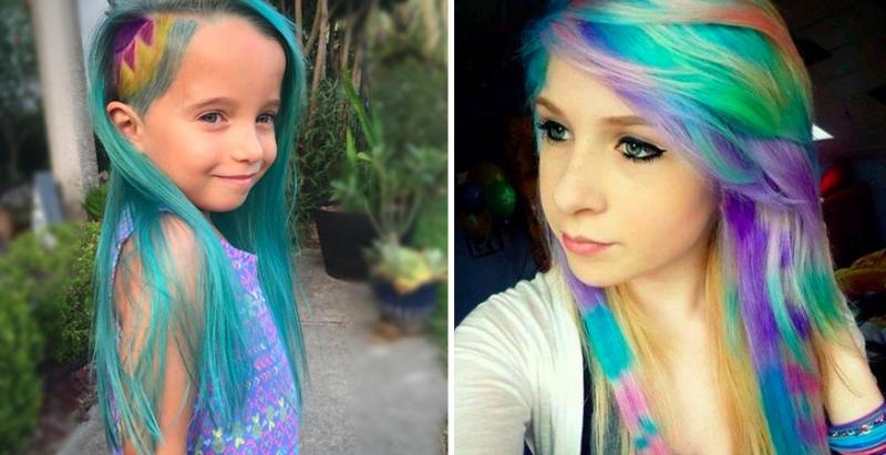 這位媽媽幫自己6歲的女兒天天染髮,被網友罵翻!結果她神回「一句話」讓所有網友都沈默了!