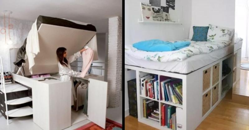 6種讓你房間「瞬間增加10坪」的「超強床鋪設計」!尤其「第5個」床上到處都是機關,實在太酷了!