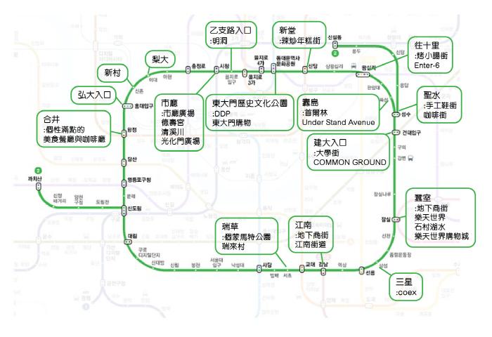 去韓國只知道去明洞就落伍了!「這些地點」更威~搭乘地鐵征服首爾吧!跟著二號線來一趟首爾旅行吧...