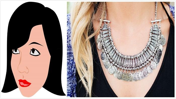 圓形臉千萬不要選擇粗、短的項鏈佩戴!不同臉形如何搭配鑽石~只有行家才會告訴你的事!