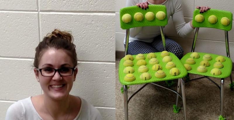 這位年輕女老師居然將網球切開黏在學生椅子上,聽完「超暖心原因」讓人不禁大呼:原來誤會她了!