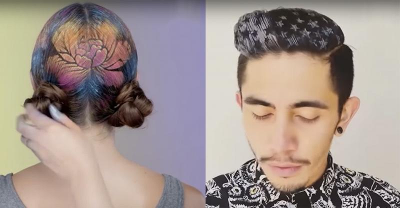 超瘋狂的髮型藝術家,讓你今年每天都能簡單擁有新造型!超美的圖案竟然都是這樣用的...