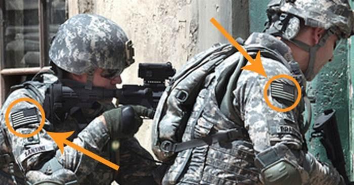 你有發現「美軍制服上的國旗是顛倒的」嗎?沒想到他們不是縫錯,竟是為了「這個超讓人尊敬」的原因!