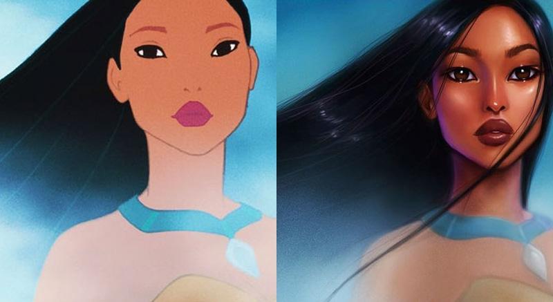 7位「只要在臉上加了油」就會美不只3倍的迪士尼公主。#7愛麗兒的油臉「從海裡浮上來」也太狂野美了!