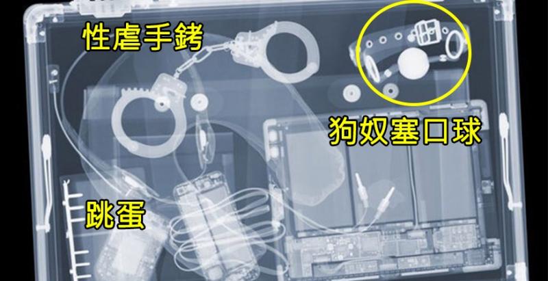 7張海關X光掃描照片,全身下都被看光光,連「最私密的地方」都被強行扒開!#5連屍體都可以用行李箱…