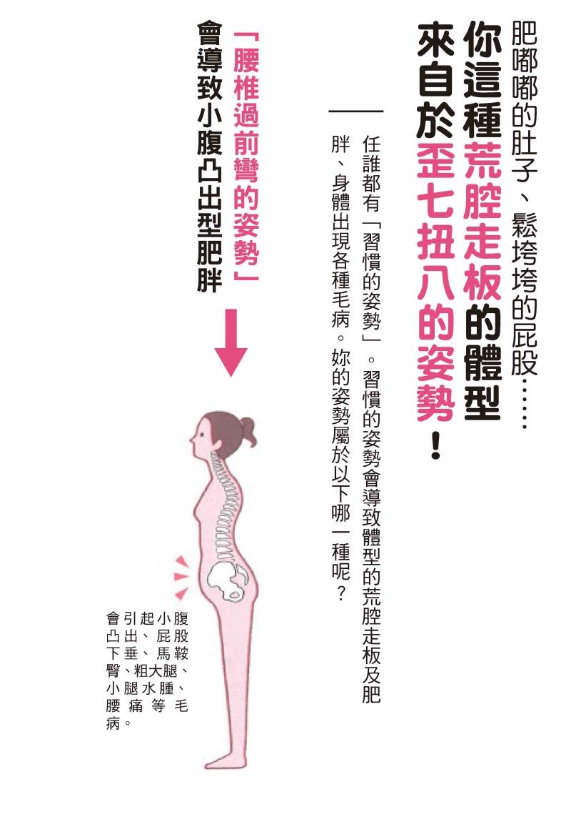 1分钟打造「会瘦」的姿势─换个姿势,腰酸、背痛、肥胖都不见了!