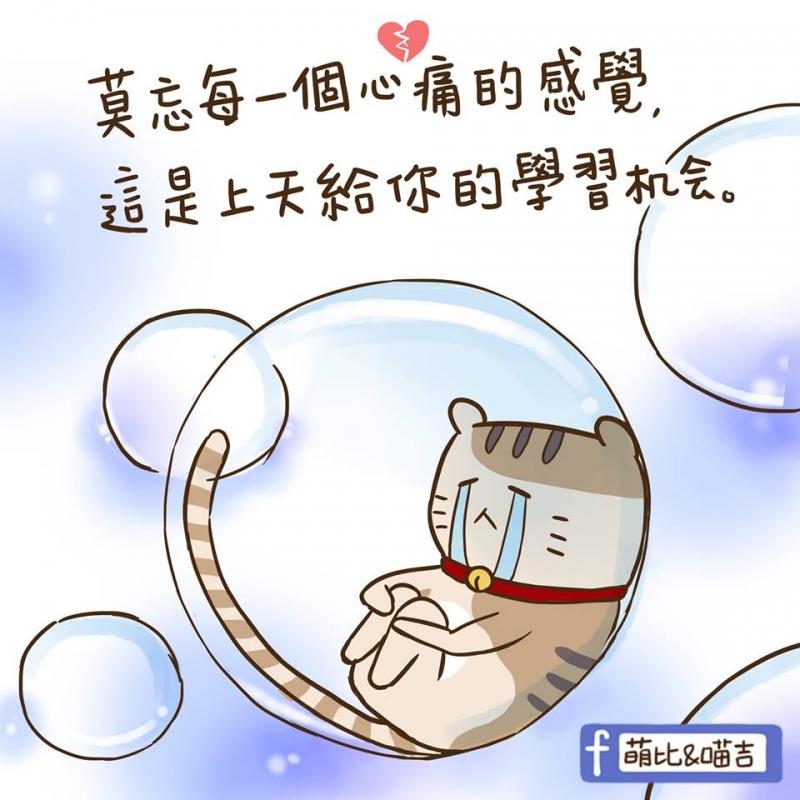 【萌比&喵吉】可愛插畫-心痛的感覺❤