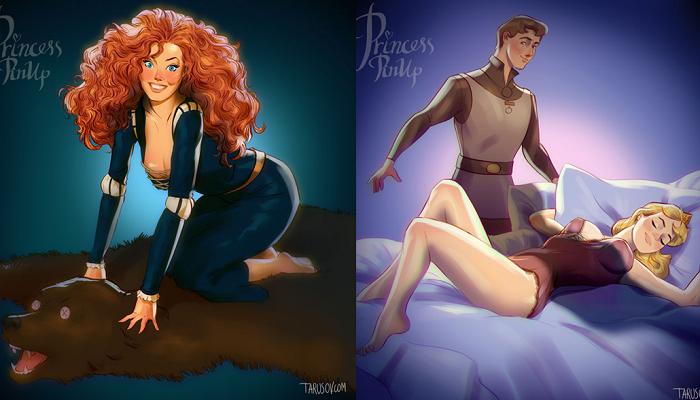 還我純真的迪士尼公主QQ 如果迪士尼公主全走「超妖豔」路線..《魔髮奇緣》裡的樂佩公主都讓我都想叫警察來檢舉了!!
