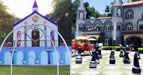 除了關西佛陀世界,「這裡」也有「絕美歐風城堡」,巨大西洋棋超氣派!什麼~還有月老可以拜?!
