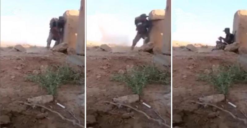 年輕士兵被ISIS狙擊手牽制隨時有爆頭危險,他用「超狂神招」方式逃脫根本就是天才啊!