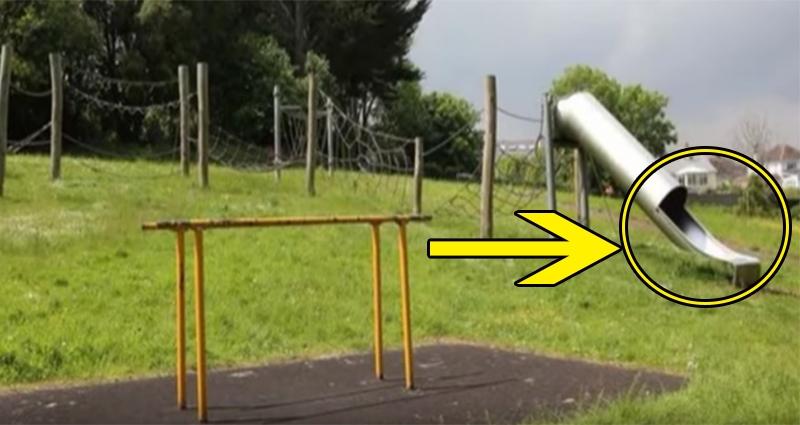 這名媽媽帶著她的小女兒到公園玩,沒想到過了一下子竟然聽到她的「慘叫聲」!媽媽衝過去後竟在溜滑梯裡看到「這種景象」!