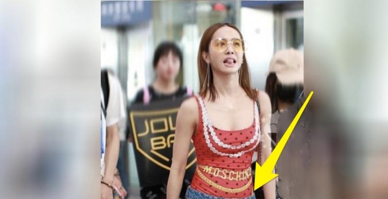 網友在機場捕捉到「女神Jolin」,原以為上半身已「辣度爆表」,沒想到手機滑到下面大家都「尖叫噴血」