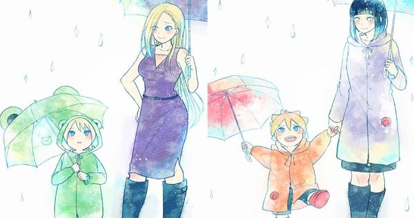 5張「人妻去接孩子下課」的甜蜜照片!《火影忍者》5位媽媽帶可愛傘接孩子,眼尖網友發現:小櫻跟其他人不一樣!