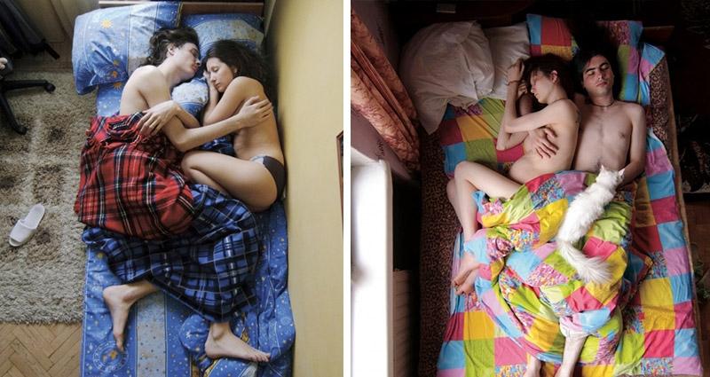攝影師趁懷孕的情侶睡著時拍下一系列「親密睡姿」,研究「男生的動作」竟發現「不可告人的秘密」