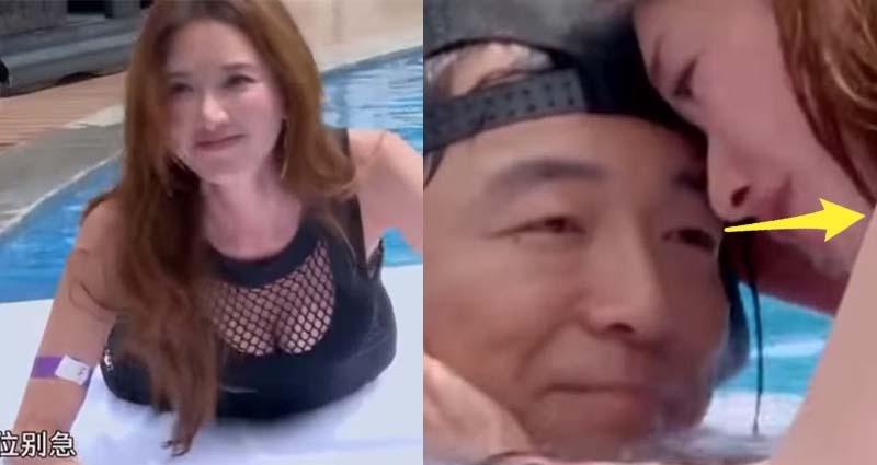 志玲姐姐穿「胸前簍空露溝小禮服」上演鐵達尼號,資深藝人黃渤「目光的方向」讓網友熱議!