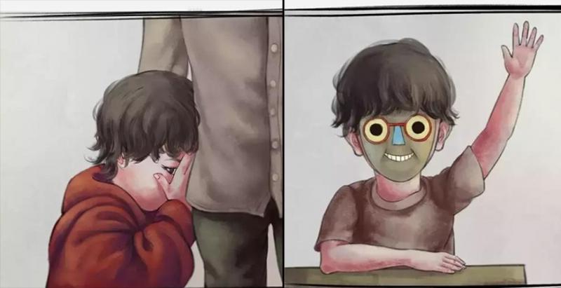 從小害羞的我,父親給了我一個「神奇面具」,戴上之後我深受老師同學喜歡,但有天我摘下面具後才發現代價是如此驚人…