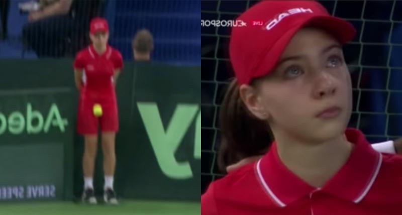 女球童被發球「高速撞擊下體」瞬間彎腰噴淚,球員「下一秒舉動」讓全場沸騰到最高點