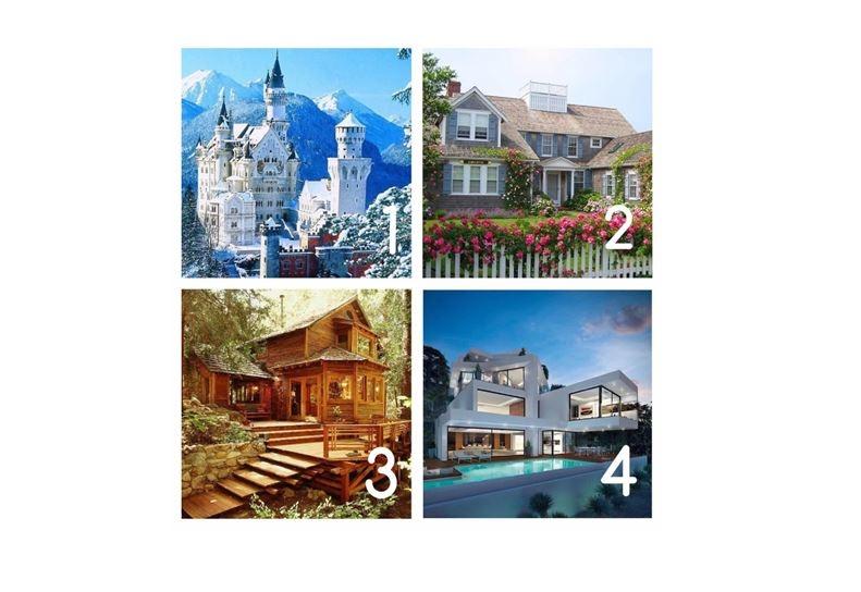 四套房子選一個,一眼測出你的愛情和另一半,準!
