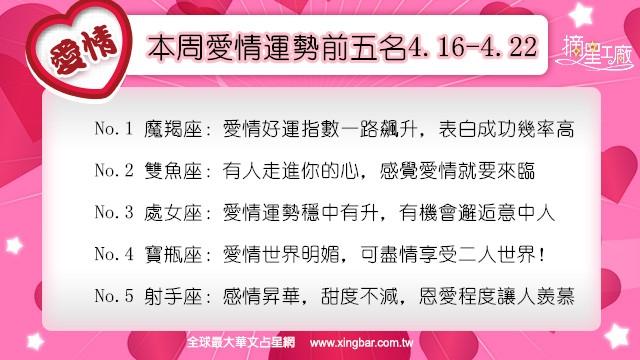 【摘星工廠】12星座本周愛情吉日吉時(4.16-4.22)