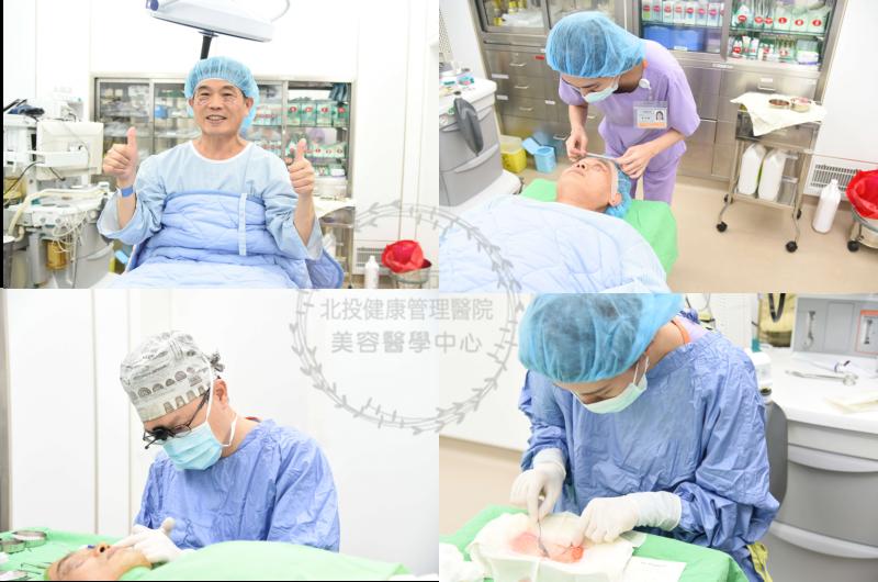[分享]眼袋外開手術,穿越時空爸爸變歐巴