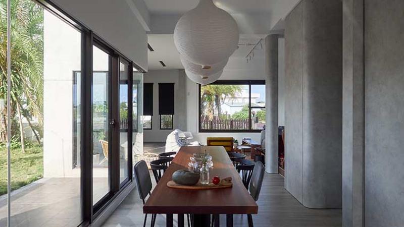 在輕與重的主次關係之間,以「高壓裝飾板」締造多元的空間層次!