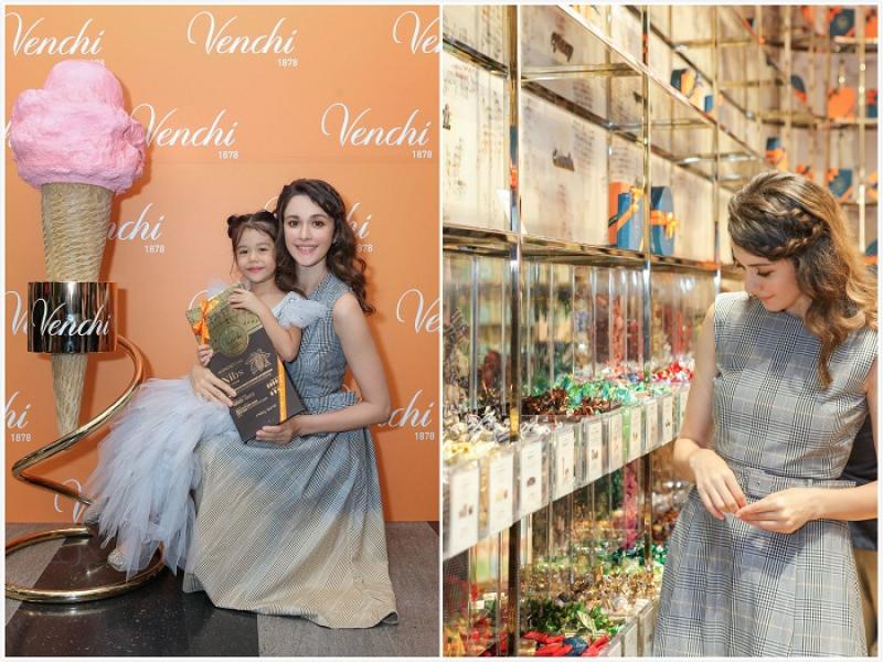 吃巧克力原来有这种好处!「义大利巧克力」Venchi 台湾首家专卖店开幕,瑞莎与女儿Nika甜蜜出席...