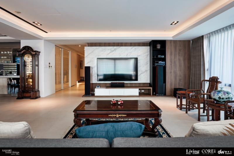 現代輪廓+中式家具,創造如宣紙染墨的人文質蘊住宅